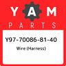 Y97-70086-81-40 Yamaha Wire (harness) Y97700868140, New Genuine OEM Part