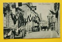Patriotik AK Straße Ort Auto Oldtimer 1914-18 Soldaten Deutsch Uniform 1.WK (A