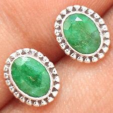 Emerald 925 Sterling Silver Earrings Jewelry EE45820
