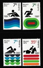 Australia 1972 : 20th Olympic Games Munich. Set of 4 Decimal Stamps, MNh
