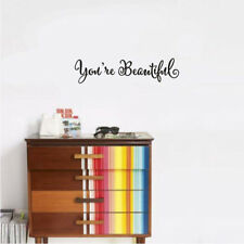 you're beautiful quote mirror decal vinyl decal living room vinyl wall window ..