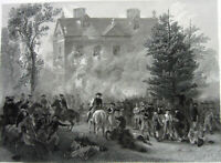 Revolutionary War BATTLE OF GERMANTOWN Pennsylvania ~ 1860 Art Print Engraving