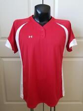 Under Armour Red White Heat Gear Shirt XL Worn 1X CE01