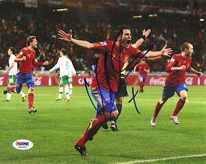 David Villa Spain Soccer World Cup Signed Auto 8x10 PHOTO PSA/DNA COA