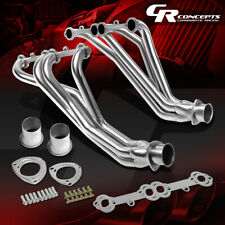 FOR 84-91 CHEVY GMT C/K 5.0/5.7 V8 SBC STAINLESS EXHAUST MANIFOLD HEADER+GASKETS