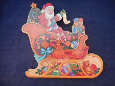 SANTA AND SLEIGH MOVING MUSIC BOX