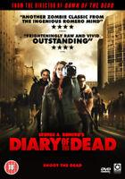 Diary of the Dead DVD (2008) Joshua Close, Romero (DIR) cert 18 ***NEW***