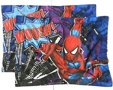 Vintage Marvel Comic Pillows Sham Ultimate Spiderman One Pair Standard Spidy