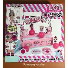 LOL Surprise - Fashion Factory - The Paper Doll Matching Game (NIB)