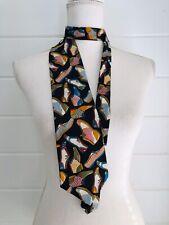 Rare Don Loper Beverly Hills Vintage Tie Oxford Shoes Print Fun Italian Silk