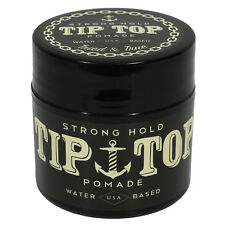 TIP TOP Strong Hold Water Based Pomade 4.25oz Free Comb NEW