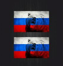 2x Sticker ussr cccp sssr urss russia car flag decal emblem russian bear r2