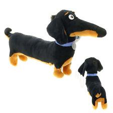 Toy Cartoon Dachshund Plush Black Sausage Buddy dog Toy Holiday Birthday