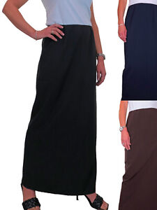 Ladies Straight Maxi Skirt 39 Inches Fully Elasticated Waist NEW Size 10-22