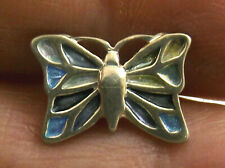 Vintage sterling silver and enamel butterfly Tie Tack or Tie Pin by Pat Cheney