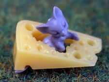 Souris avec fromage doll house miniature Souris et Fromage 1.12 échelle souris miniatures