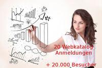 20 Webkatalog Eintragungen + 20.000 Besucher Link Aufbau SEO Webseiten Besucher