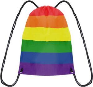 Pride LGBT Drawstring Rainbow Bag Rucksack # Be Kind NHS