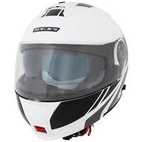 Spada Cyclone BLAST WHITE Black Flip Front DVS Motorcycle Motorbike Helmet New