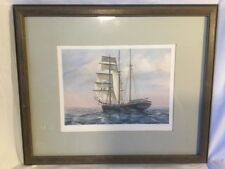 Robert Chase Signed Maritime Ship Framed Print