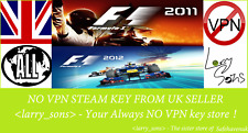 F1 2011 + F1 2012 Steam key NO VPN Region Free UK Seller