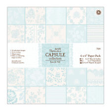 "Papermania 6x6"" scrapbooking paper capsule collection 32 sheets Eau de nil green"