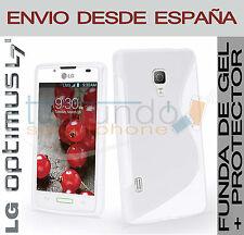 COQUE GEL BLANC + protection ECRAN pour LG OPTIMUS L7 II 2 P710 en Espagne