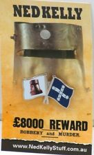 79020 NED KELLY STUFF COLLECTABLE PIN BADGE 20 of 20 HELMET SOUTHERN CROSS FLAG