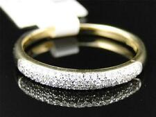 10k White Gold Womens Round Cut Diamond Pave Wedding Band Ring 3.5 Mm