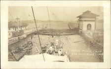 Panama Canal Peter Maguil Locks & Mira Flores Lake Real Photo Postcard