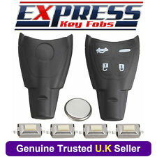 Saab 4 Button Remote Key Fob Case Repair Kit Fits 9-3 Sport Convertible + Logo