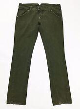 Cycle jeans donna size W32 tg 46 gamba dritta usato slim verde vita bassa T321