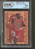 1995-96 Michael Jordan Flair Hardwood Leader Gem Mint 10 Chicago Bulls MVP HOF