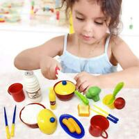 20 PCS Pretend Play Tableware kitchen and tea play set pouding