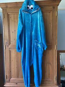 Cookie Monster All In One, Lounge Wear, PJ Set, Cos Play, Fancy Dress
