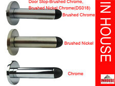Wall mounted door stops- Chrome, Brushed Chrome, Brushed Nickel(DS018)