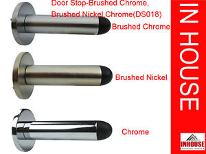 Wall mounted door stops Chrome Brushed Chrome Brushed Nickel DS018