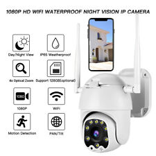 WiFi PTZ Outdoor Camera IR Motion Detection 4x Optical Zoom Pan Tilt APP Remote