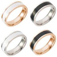 Men Women Stainless Steel Titanium Band Ring Wedding Engagement Size 6-13