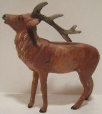 Old Metal Reindeer for Christmas Putz Village or Santa Sleigh - repaint