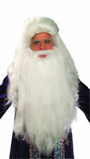White Sorcerer Wig Beard Hair Costume Accessory Prop Old Man Wizard Men Bible
