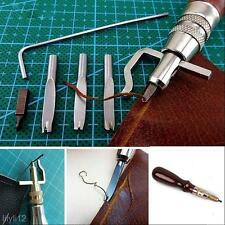 Leather Tools Groover Crease Adjustable Stitching DIY Leather Lot Set Kit 5 In 1
