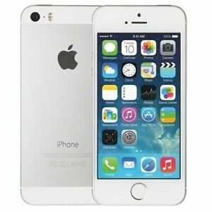 Apple iPhone 5s -16GB - Silver (Unlocked) Smartphone