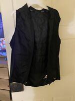 Hind Womens Size M Reflective Running Vest Zip Front Black