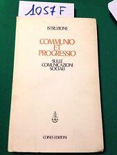 ISTRUZIONE PASTORALE - COMMUNIO ET PROGRESSIO sulle comunicazioni sociali - 1971