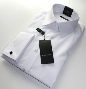 Hemd Eterna Gr. 40, Umschlag-Manschetten, weiß, Comfort Fit, 100% Baumwolle,