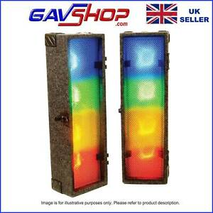 2 x 4 Way Retro 70's Glam Style LED Clip Party Disco Light Boxes & Controller