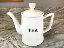Teapot White And Black Made By THL. Holds 4 Cups. New.