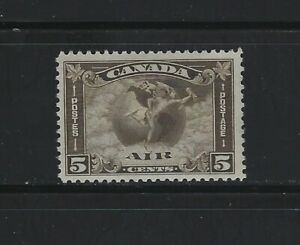 CANADA - #C2 - 5c MERCURY WITH SCROLL IN HAND AIRMAIL MINT STAMP MLH
