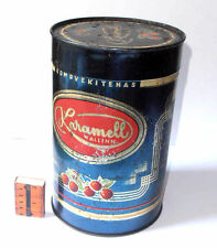 "1950s USSR ESTONIAN Confectionery Factory ""CARAMEL"" Tallinn LARGE Size Tin Box"